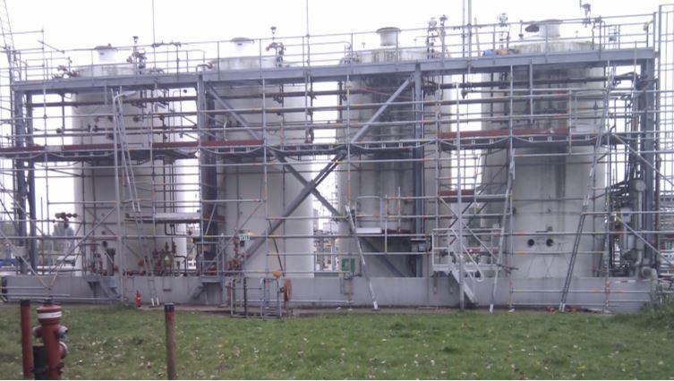 ammonia opslag en verlading